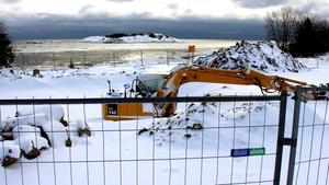 Bygget av den nya avloppsanläggningen i Skeppshamn har påbörjats.
