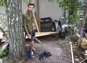 Klas Ebeling, arborist med egen firma, har haft påhälsning av tjuvar flera gånger den här sommaren.