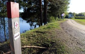 Ljungandalsvägen, S:t Olavsleden vid Vikbron.