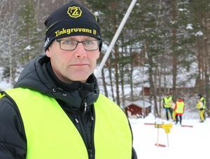 Tävlingsledaren Mats Bjärmark var en av funktionärerna som ansvarade för tävlingen.
