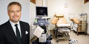 Kvinnorna i Nynäshamn och Haninge kan välja mellan 44 olika gynekologiska mottagningar, menar vård- och valfrihetsregionrådet Tobias Nässén (M).