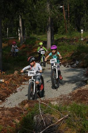Många barn gillade den nya teknikbanan.Foto: Gösta Söder
