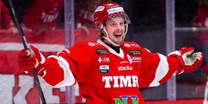 Jonathan Dahlén har gjort 15 poäng på sju matcher hittills. Forwarden har gjort minst två poäng i alla matcher utom mot Karlskoga. Foto: Pär Olert / BILDBYRÅN