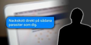 Mannen misstänks ha hotat riksdagspolitikern på Facebook. Foto: Christine Olsson/TT. Montage: Terese Westberg Sunesson