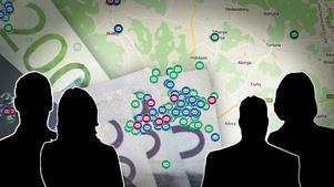 Att färre har betalningsanmärkningar i välbärgade områden än i områden med fattigare befolkning stämmer i allmänhet, men det finns också en del områden som går emot både fördomar och ekonomiska trender.Bild: Google maps