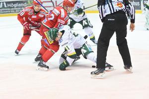 Modo har två vinster mot Björklöven den här säsongen och möjligen ett psykologiskt övertag inför nedsläpp på onsdagskvällen. Bild: Hanna Persson/arkiv