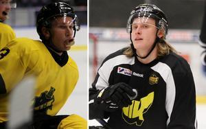 Fredric Weigel och Anthon Eriksson var inte överens om hur illa tacklingen var. Foto: Hockeypuls.