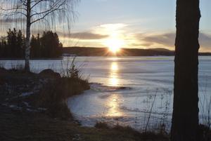 Soluppgång över Varpen fredag den 26 februari vid 7.30-tiden