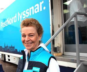 Posnords vd, Annemarie Gardshol, tog emot iriterade kunder i Borlänge.