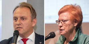 Shpetim Pirraku, ordförande Köpings Arbetarekommun, och Elizabeth Salomonsson, tidigare kommunalråd, går till motangrepp mot KD.