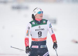 Marit Björgen vid världscuppremiären i finska Ruka i november.
