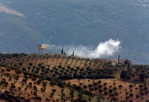 Turkiskt artilleri vid gränsen mot Syrien. Bild: AP Photo/Lefteris Pitarakis