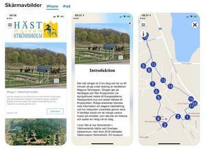 Hästmuseet i Strömsholm är en app, där besökare kan följa fem rundturer.