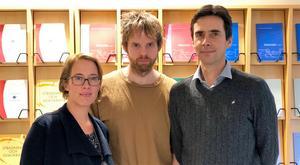 – Frågan hur vi ska hantera skolsegregationen är en stor samhällsutmaning, säger forskaren Emma Arneback, här tillsammans med kollegorna Jan Jämte och Andreas Bergh. Bild: Privat