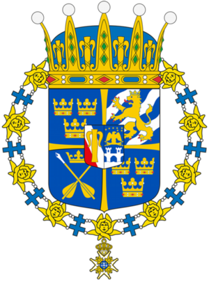 Prins Gabriels vapen. Foto: Riksarkivet