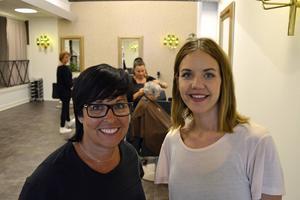 Lotta Uvhages bolag har köpt salongen Sagolik av Emma Backberg, till höger. Salongen har blivit dubbelt så stor och har fått en ny entré.