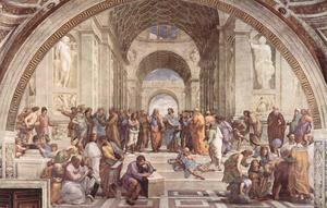 Platons akademi i Aten. Målning av Raffael från 1510.