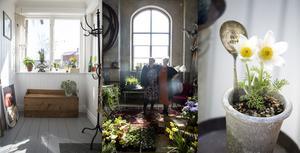 Solveig och Ida, ett kreativt möte som bland annat, tar sig uttryck på gamla skedar och i vackra planteringar.