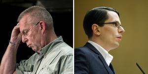 Mats Hellhoff och Johnny Skalin uppges vara Sverigedemokraternas talespersoner lokalt och i distriktet. Bilder: Eva-Lena Olsson, Therese Ny