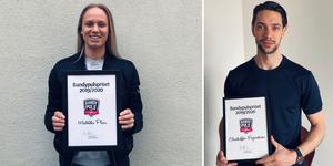 Matilda Plan och Christoffer Fagerström – vinnare Bandypulspriset 2019/2020. Bild: Privat