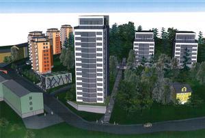 De tänkta två punkthusen i etapp 2 av Södertäljeporten på Stockholmsberget i Grusåsen blir inte av som planerat. I stället tar Telge bostäder och kommunen nya tag för området.