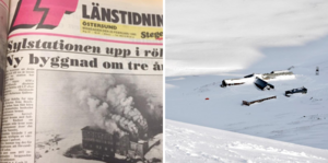 Sylstationen drabbades av en förödande brand 1980. Några år senare togs en ny fjällstation i bruk.