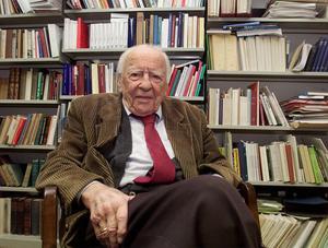 Den tyske filosofen Hans-Henrik Gadamer gick bort 2002 102 år gammal.Foto: Heribert Proepper/AP