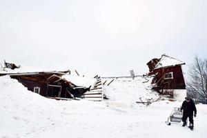 Av ladugården i Sättna blev inte mycket kvar.