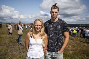 Kajsa-Stina Näsholm och Freddie Vallin från Nyland tycker att det är kul att det satsas på närområdet.