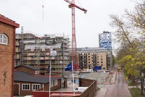 Vid Muréngatan i Gävle bygger Upplands Projektbygg ett vårdboende åt privata vårdföretaget Attendo.