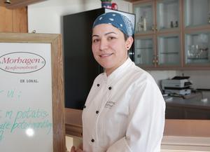 Morhagens nya krögare, Nancy Maamary, tycker livsmedelsinspektörerna var snälla som agerade så snabbt med registreringen.