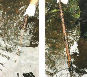 Polisen misstänker att gärningsmannen slog sönder altanfönstret med ett järnrör. Järnröret hittades sedan i Svartån i Skultuna. 35-åringen hade ett annat, identiskt järnrör i sitt garage.Järnröret som hittades var 68 centimeter långt, hade en omkrets på 3,5 centimeter och vägde strax över ett kilo.Foto: Polisen