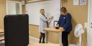 """""""Flera av våra elever kommunicerar inte verbalt och ber om hjälp, utan har lättare att ta till sig av det skriftliga, därför sker mycket kommunikation via sms"""", berättar Lena Otosson"""