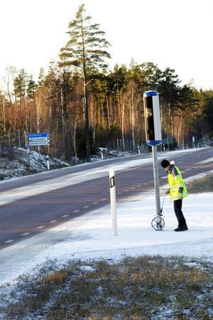 Stefan Lindh från Trafikverket är ute på platsen.