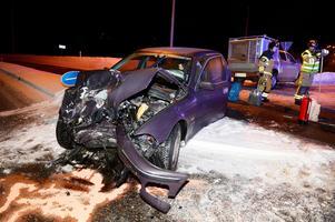 Trafikolycka på Timmervägen.