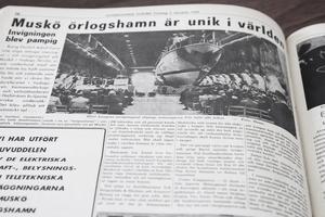 Marinstabens iordninggjorda lokaler i berget på Muskö invigdes i måndags. Det var på dagen 50 år efter att Musköbasen invigdes 1969, något som NP då rapporterade om.
