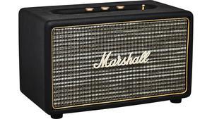 Högtalare med Bluetooth från Marshall, cirkapris 1500 kronor. Finns bland annat på netonnet.