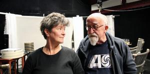 Folkteaterns skådespelare Arabella Lyons och regissör Tim Webb