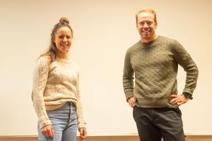 Anna och Emil Jönsson Haag höll en populär föreläsning.
