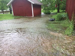 Stora mängder regn har fallit i Avesta under torsdagen.
