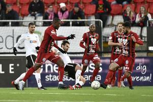 Örebro och Östersund under en match i allsvenskan i fjol.