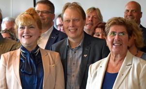 Kommuner och regioner ska enas om vad som behöver göras. Landshövding Minoo Akhtarzand, Abbe Ronsten region Dalarna och landshövding Ylva Thörn.