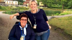 Marianne Eldebrink och Ellen Lageholm på en av många utflykter tillsammans.