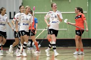 Johanna Eriksson reducerade för Övik med 28 sekunder kvar av den första perioden.