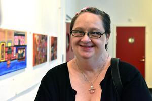 Anna-Lena Persson berättar att hon har skapat konst sedan tonåren.