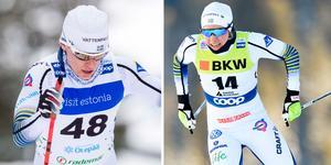 Ida Ingemarsdotter och Hanna Falk. Foto: Terje Pedersen/TT och Gian Ehrenzeller/Keystone via AP