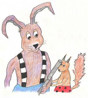 Vännerna Plumpen och Dumpen. Illustration av Inger Koleff.