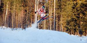 Filip Hägg bor i Arbrå och åker gärna slalom i Koldemoåsen.