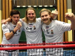 Tremålsskytten Alexander Andersson, tvåmålsskytten Patrik Svensson och Alexander Johansson.