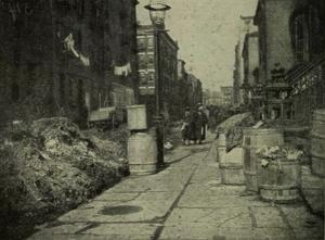 Varick place i New York, 17 mars 1893.  Foto: Wikimedia commons.